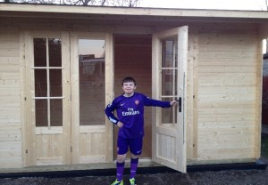 Max outside his very own Summerhouse