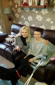 Olivia with Pixie Lott